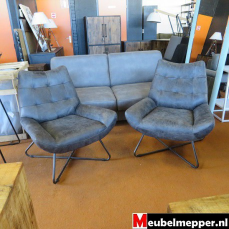 Fauteuil Washington Antraciet  Nr-377