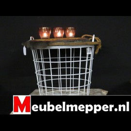 Salontafel - Basket White 61Øcm