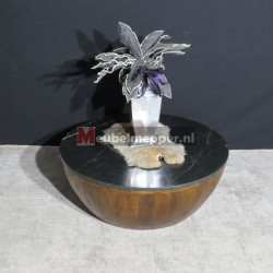 salontafel bowl big Marmer black