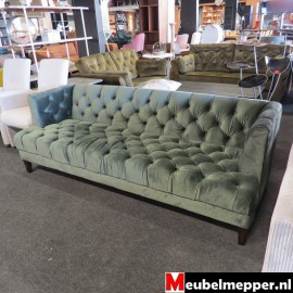Bank Velvet groen Nr 696 (Showroom model)
