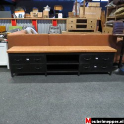 Tv-Meubel Black mango 206 cm Nr723 (Showroom model)