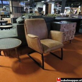 Fauteuil Cognac NR-799 50 % korting (Showroom model)