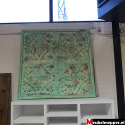 Metalen wandbord groen matzz  NR-801  50 % korting (Showroom model)