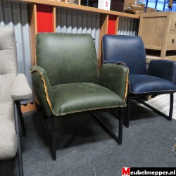 Fauteuil green NR-802 50 % korting (Showroom model)