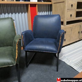 Fauteuil blauw NR-803 50 % korting (Showroom model)