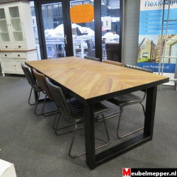 Eettafel Industrial Loft Nr-816 (Showroom model)