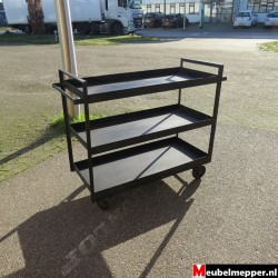 Zwart metalen trolley NR-853
