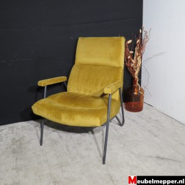 Fauteuil William velvet geel Nr-897