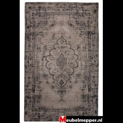 Vloerkleed Flower Mediallon grey 9983