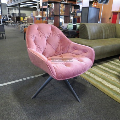 Draai fauteuil Old pink Nr-1004