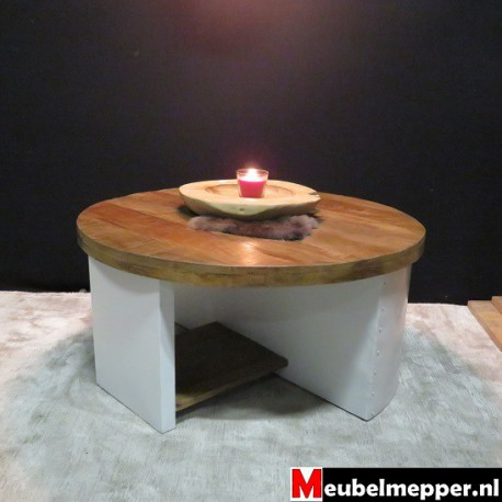 Ronde salontafel White indian 90 CM
