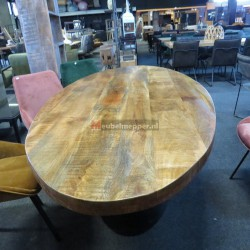 Tafel Ovaal Mangohout (Showroom model) NR1210
