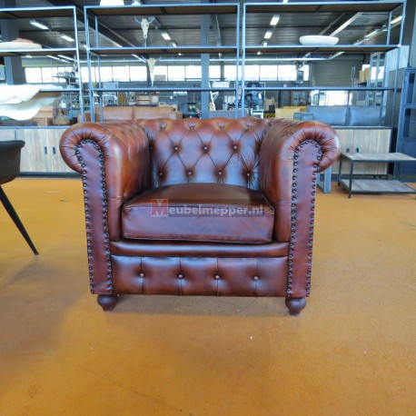 chesterfield Fauteuil 40% Korting NR1222 (Showroom model)