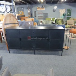 Zwart metalen Dressoir NR1226 (Showroom model) 40% Korting