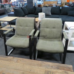 2x Fauteuil Industrieel Taupe Nr-1236 (Showroom model)